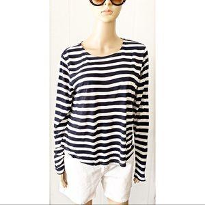 ❤️ H&M Blue Striped Shirt Size M
